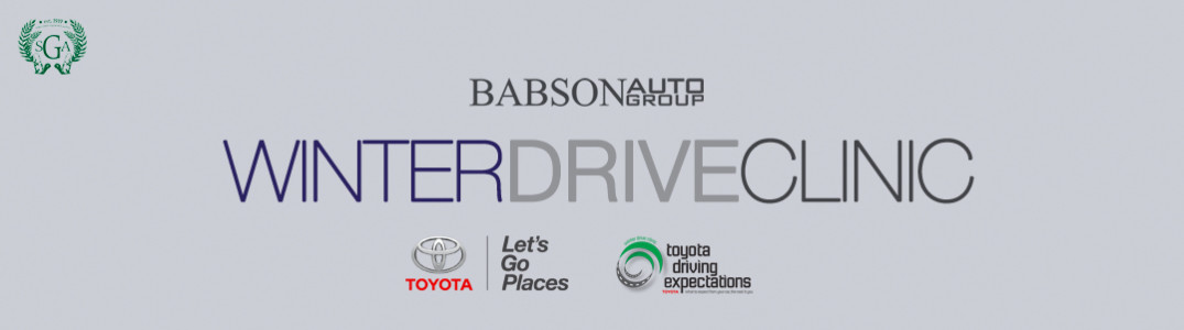 The Babson Auto Group will be hosting a Winter Drive Clinic event sponsored by Toyota on December 6 & 7, 2013. This event will focus on driving in adverse conditions, as well as, how to properly prepare...